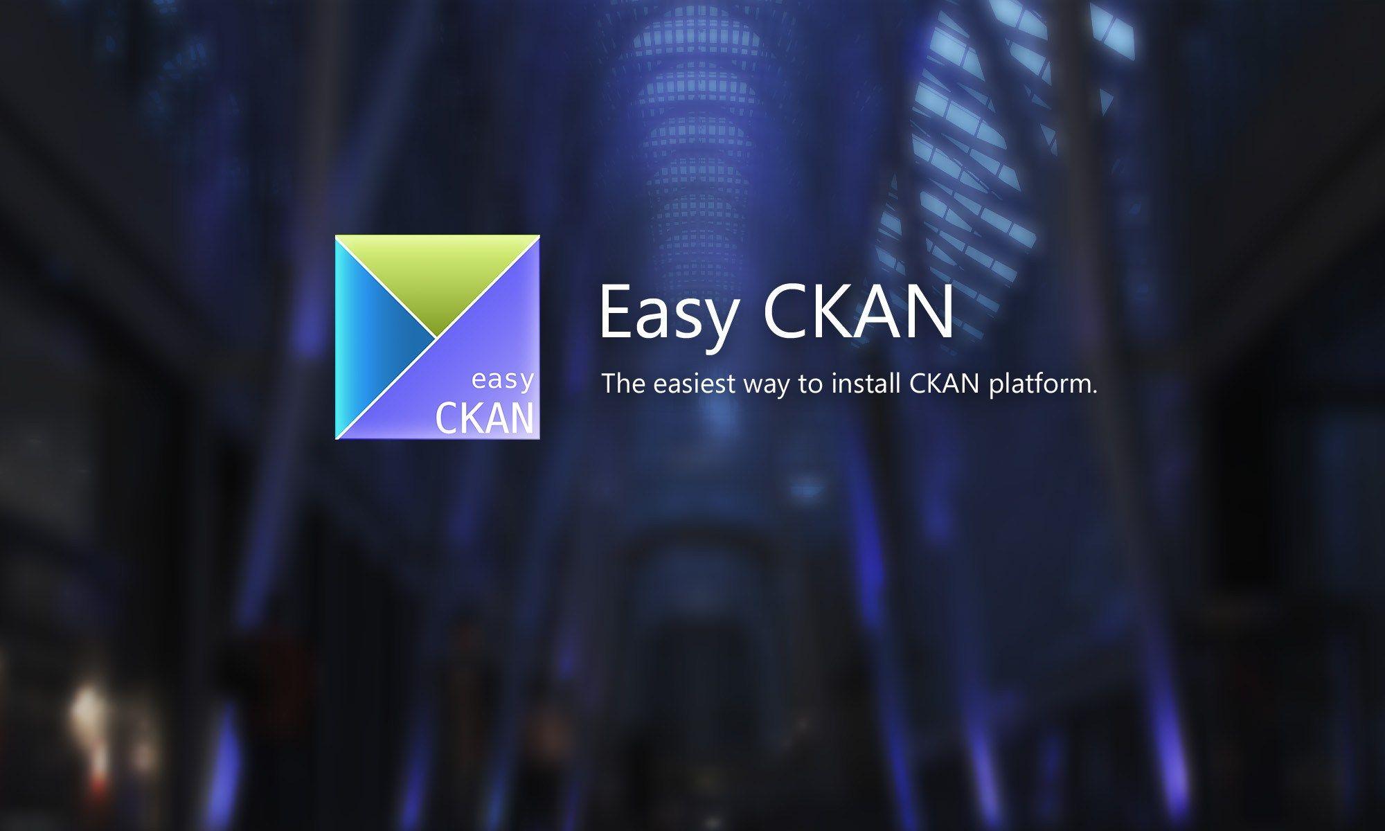 Easy CKAN: The easiest way to install CKAN